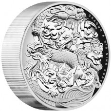 Dragon and His Nine Sons 2016 5oz High Relief Silver Proof Coin