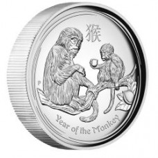 LUNAR S II 2016 MONKEY 1OZ SILVER PROOF HIGH RELIEF COIN