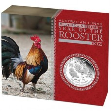 Lunar S II 2017  Rooster 1 oz  Silver Proof Coin