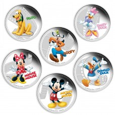 DISNEY MICKEY & FRIENDS 2014 1OZ SILVER PROOF SIX-COIN PACK