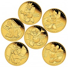 DISNEY MICKEY & FRIENDS 2014 1/4OZ GOLD PROOF SIX-COIN PACK