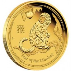 LUNAR S II 2016  MONKEY 1/4 OZ GOLD PROOF COINS