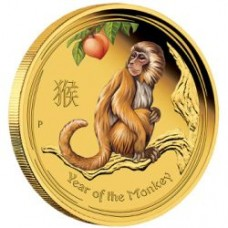 LUNAR S II 2016 1/10 OZ GOLD PROOF COLOURED EDITIONS