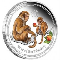 AUSTRALIAN LUNAR SERIES II 2016 YEAR OF THE MONKEY SILVER PROOF COLOURED EDITIONS