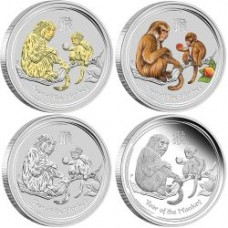AUSTRALIAN LUNAR SILVER COIN SERIES II 2016 YEAR OF THE MONKEY 1OZ SILVER TYPESET COLLECTION